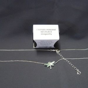 Avon Critters Pendant Necklace Dragonfly New